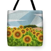Land Of Sunflowers. Tote Bag