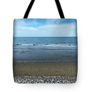 Land Sea And Ocean Background Tote Bag