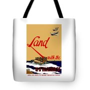 Land With The Us Marines Tote Bag