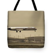 Landing At Dfw Airport Tote Bag