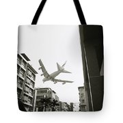 Landing In Hong Kong Tote Bag