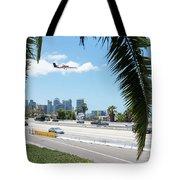 Landing In San Diego Tote Bag