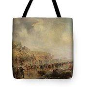 Landing The Shore End Of The Atlantic Cable Tote Bag