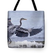 Landing With The Wave Tote Bag