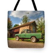 Landrover And The Barn Tote Bag