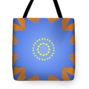 Landscape Abstract Blue, Orange And Yellow Star Tote Bag