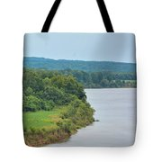 Landscape Along The Tennessee River At Shiloh National Military Park, Tennessee Tote Bag