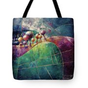 Landscape And Trees In Purple Tote Bag