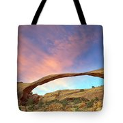 Landscape Arch Sunrise Tote Bag