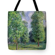 Landscape At Sevres Tote Bag by Alfred Sisley