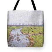 Landscape At Sluis Tote Bag