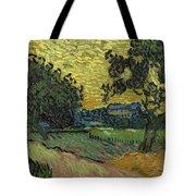 Landscape At Twilight Auvers Sur Oise June 1890 Vincent Van Gogh 1853  189 Tote Bag