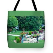 Landscape Down The Street Tote Bag