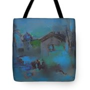 Landscape In Blue Tote Bag