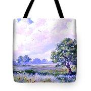 Landscape In Blues Tote Bag