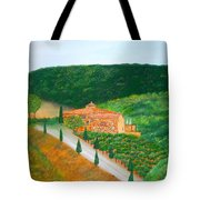 Landscape In Tuscany Tote Bag