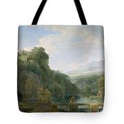 Landscape Of Ancient Greece Tote Bag by Pierre Henri de Valenciennes