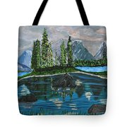 Landscape Of Tranquility And Storms  Tote Bag
