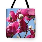Landscape Pink Magnolia Flowers 46 Blue Sky Magnolia Tree Tote Bag