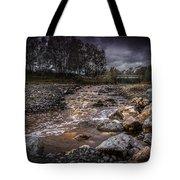 Landscape River And Bridge II Tote Bag