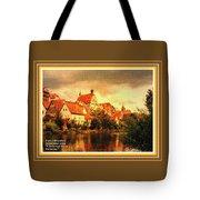 Landscape Scene - Germany. L A With Alt. Decorative Ornate Printed Frame. Tote Bag