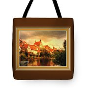 Landscape Scene - Germany L A With Decorative Ornate Printed Frame. Tote Bag