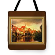 Landscape Scene - Germany. L B With Decorative Ornate Printed Frame. Tote Bag