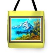 Landscape Scene Near Virginiahurst L B With Alt. Decorative Onate Printed Frame  Tote Bag