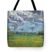 Landscape Under A Turbulent Sky Tote Bag