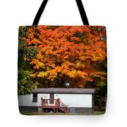 Landscape View Of Mobile Home 1 Tote Bag