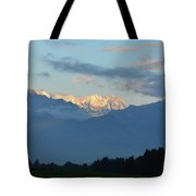 Landscape View Of The Dolomite Mountains In Northern Italy Tote Bag