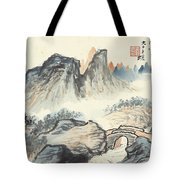 Landscape Village Tote Bag