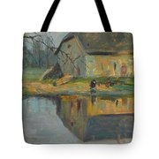 Landscape With A Barn Tote Bag