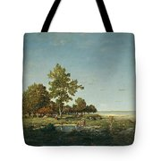 Landscape With A Clump Of Trees Tote Bag