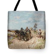 Landscape With A Hay Cart Tote Bag