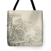 Landscape With A Herdsmen Tote Bag