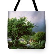 Landscape With A Mill Tote Bag