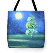 Landscape With A Moon Tote Bag