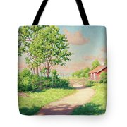 Landscape With A Red Cottage Tote Bag