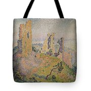 Landscape With A Ruined Castle  Tote Bag by Paul Signac