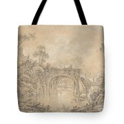 Landscape With A Rustic Bridge Tote Bag