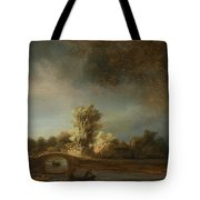 Landscape With A Stone Bridge Tote Bag