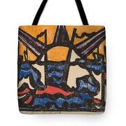Landscape With A Sun Tote Bag