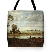 Landscape With Boatman Tote Bag