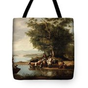 Landscape With Cows Tote Bag