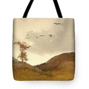 Landscape With Crows  Tote Bag