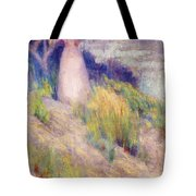 Landscape With Figure In Pink Tote Bag