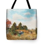 Landscape With Fox Tote Bag