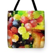 Landscape With Giant Grapes Tote Bag