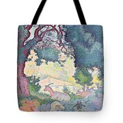 Landscape With Goats Tote Bag